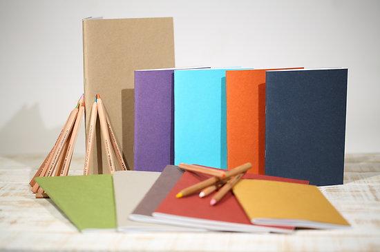 Carnet agrafé avec papier épais 175gr 28 pages A5 et A4
