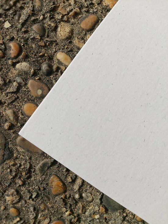 Papier recyclé fibré 300 gr blanc