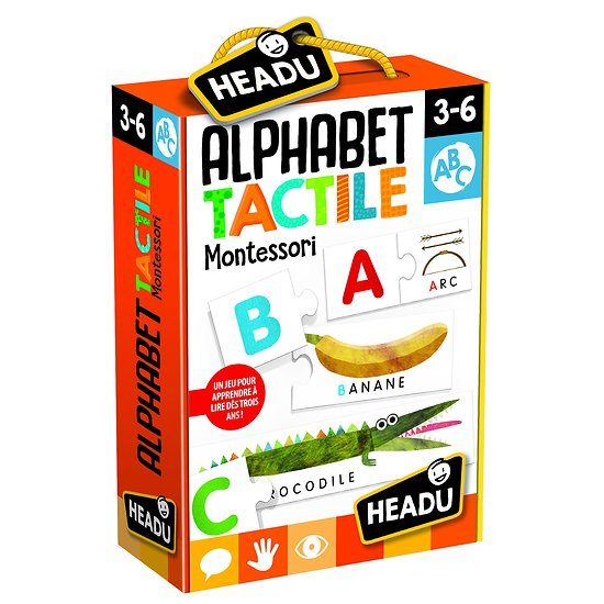 ALPHABET TACTILE MONTESSORI - 3-6 ANS - HEADU