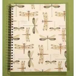 Carnet 18x22 cm à spirale libellule