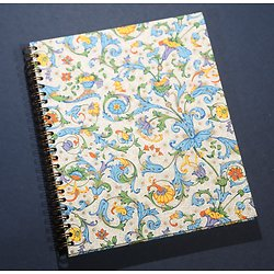 Carnet 18x22cm  arabesque bleu multicolore