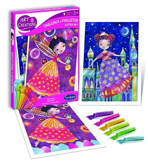 Tableaux à pailleter Princesses- + 5 ans
