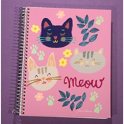 Cahier à spirale Chats A5