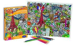 Poster à colorier Bienvenue à Paris - + 5 ans