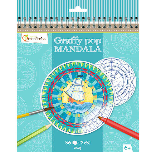 Mandala Graffy pop Bateau