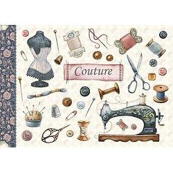 Carnet agrafé A5 Couture