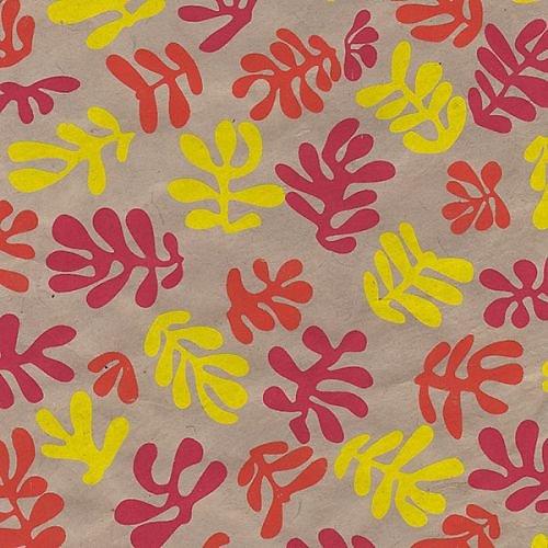 Papier Lokta Mascareignes Jaune rouge framboise