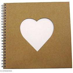 Carnet en forme de coeur 20x20 cm environs