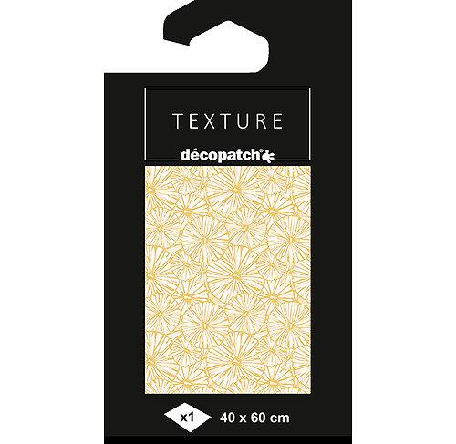 Feuille texture écriture décopatch rosace dorure 40x60cm