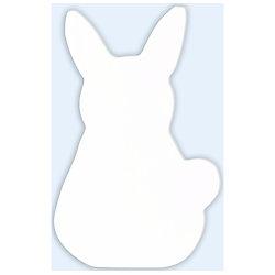 Symbole lapin en papier mâché  blanc 2.5X13.5X20.5CM