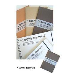 Cahier de dessin 100% recyclé - 24x34cm