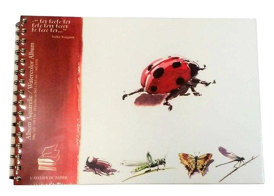 Album Aquarelle Coccinelle 20.5x29.5cm