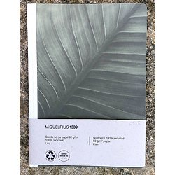 """Carnet en lin """"Feuillage """"ligné 15.2x21cm"""