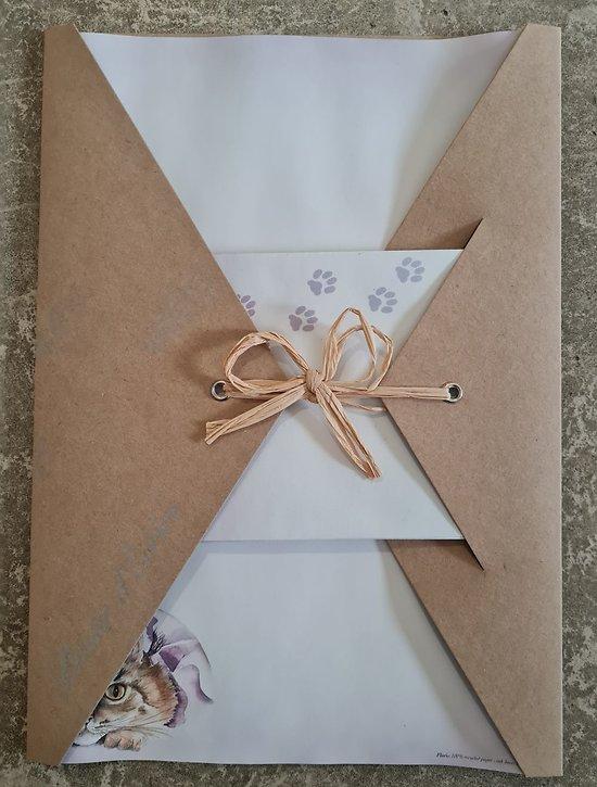 Papier à Lettre Chat avec enveloppes en papier recyclé