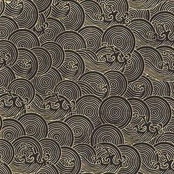 Papier LOKTA précieux couleur métallique noir/or