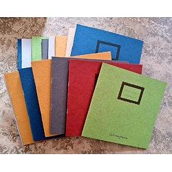 Lot de 16 carnets 19.5x20cm imprimés