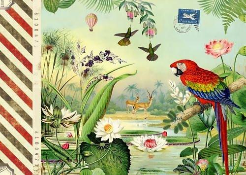 Carnet agrafé A5 Voyage perroquet