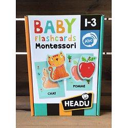 Baby flascards Montessori -1/3 ans- Headu