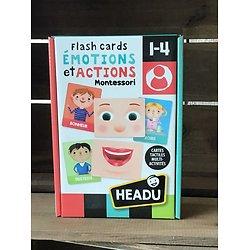 Flascards Émotions et Actions Montessori -1/3 ans- Headu