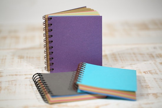 Cahier spirales A6 kraft multicolore