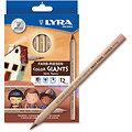 12 gros crayons de couleurs SKIN TONES- ton de peau