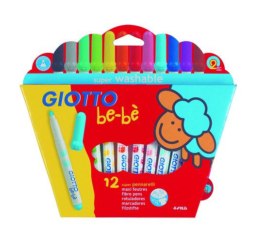 12 Feutres de couleurs Bébé Giotto
