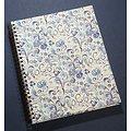 Carnet 18x22cm à spirale arabesque bleue