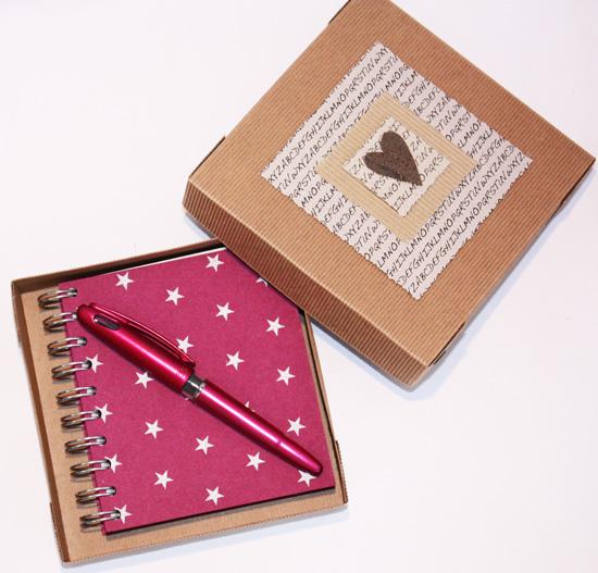 Cadeaux coffret Carnet stylo boite