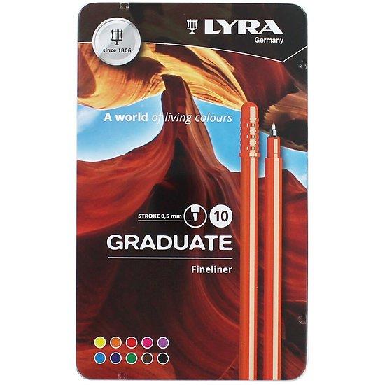 10 feutres Graduate fineliner 0.5mm