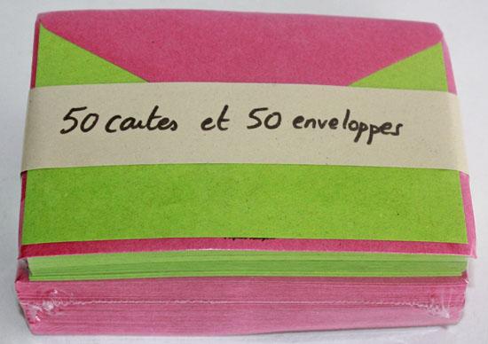 Cartes et Enveloppes format Carte de Visite