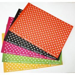 """Papier Scrapbooking (50x34cm) """"à pois"""""""