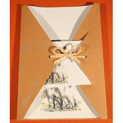 Papier à Lettre Cheval avec enveloppes en papier recyclé