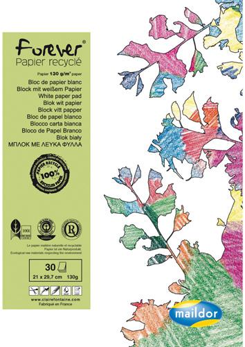 Bloc à dessin de 30 feuilles A4 de papier blanc