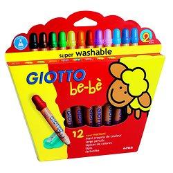 12 Crayons Bébé Giotto + taille crayon