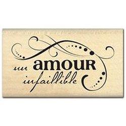 "Tampon bois ""Amour infaillible"""