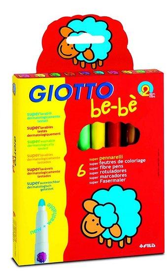 6 Feutres de Coloriage Giotto bébé