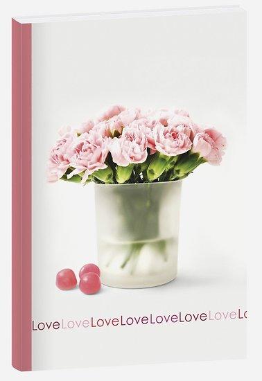 Carnet A6 Fleur Pivoine ligné