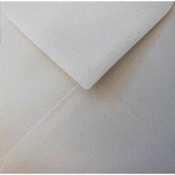 Enveloppe recyclée carrée 15x15cm Fibrée 100gr blanche