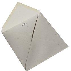 Enveloppe recyclée carrée 15x15cm Fibrée 120gr Crème et Chantilly
