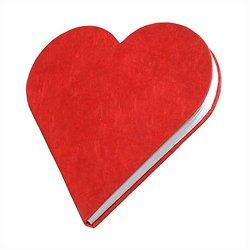 Carnet en forme de Coeur (2 couleurs)