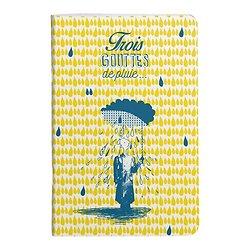 Carnet 11x17cm 4 modèles trois gouttes de pluie