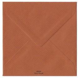 Enveloppe carrée 12.5x12.5cm Kraft