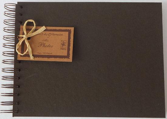 album photos en papier recycl 18x23cm maki papier recycl. Black Bedroom Furniture Sets. Home Design Ideas