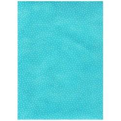 Papier LOKTA turquoise à pois blanc