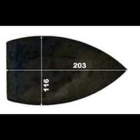 SEMELLE TEFLON IRON MASTER 200X116
