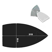 SEMELLE TEFLON BIEFFE GD/GE80 COVEMAT 215X120