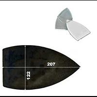 SEMELLE TEFLON FER SAXEL 206X120