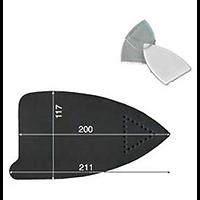 SEMELLE TEFLON FER NEW LEMM 1 200X118