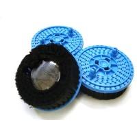 Jeu de 3 brosses bleu pour moquettes et tapis