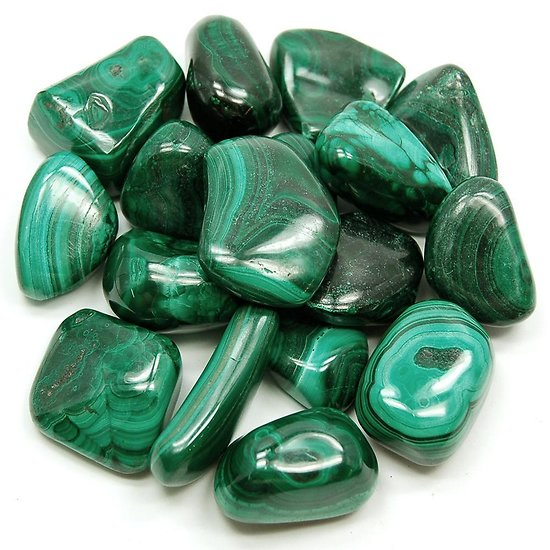 Pierre polie en Malachite